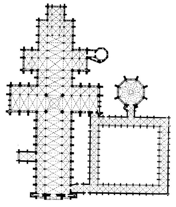156 План собора в Солсбери
