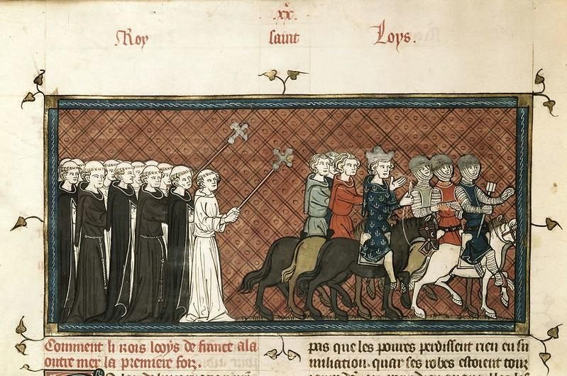 187 Людовик IX отправляется в 7 Крестовый поход Хроники Франции из Сен-Дени 1332-1350