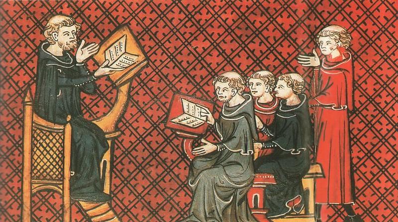 186 Лекция в университете. Французский манускрипт XIII в