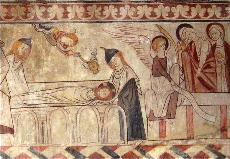 180 Фреска в церкви St Mary, Lakenheath, Suffolk, Англия, XIII в