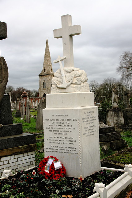 Grave of John Travers Cornwall VC. Also known as Jack.
