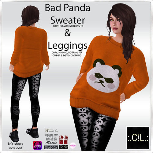 :.C!L.: Bad Panda Special Halloween Sweater & Leggings Poster
