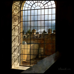 through the chapel window...