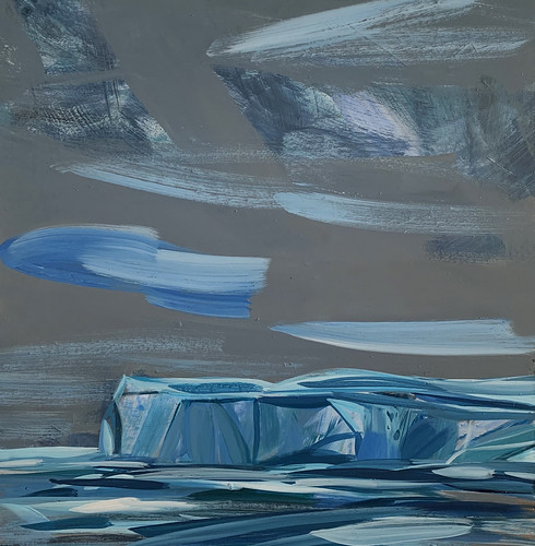 Norway: Svalbard ice, My Places Project, acrylic on board