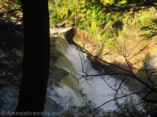 Views down on the Lower Falls from Trail #6 in Letchworth State Park, New York