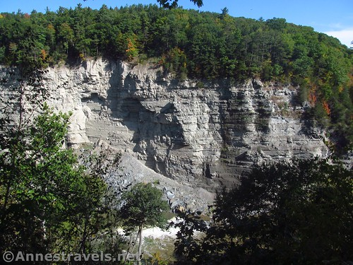 Cliffs across from Trail #6 in Letchworth State Park, New York