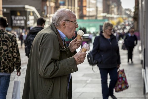 street portrait urban fun funny humorous candid profile streetphotography streetlife humour decisivemoment candidportrait candidstreetphotography old autumn food man cold male face weather tongue melting cone eating expression elderly icecream twoscoops hands detail texture bokeh depthoffield tone light outdoor naturallight shade life city people living humanity culture lifestyle scene human society uk colour canon scotland glasgow 70mm canon5dmkiii ef2470mmf28liiusm leanneboulton