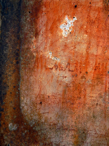 Graffiti on a wall in TuDuc's royal tomb in Hue, Vietnam