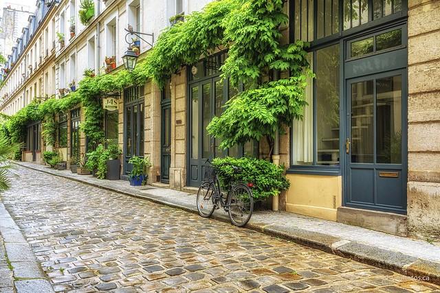 Sur les pavés à Paris