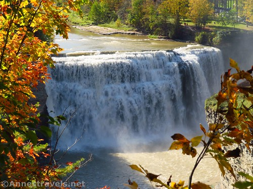 Close up of Middle Falls from the Genesee Valley Greenway, Letchworth State Park, New York