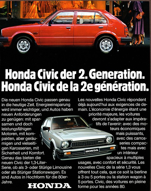 1980 Honda Civic (German Ad)