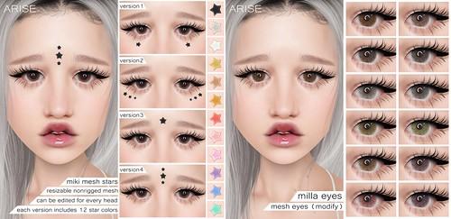 .ARISE. Miki Mesh Stars & Milla Eyes