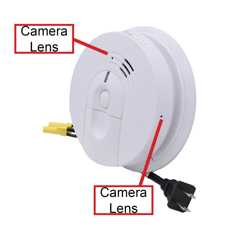 Smoke Detector With Dual Two Full Hd Hidden Wifi Camera