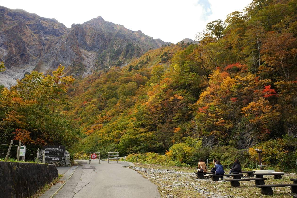 一ノ倉沢の紅葉風景