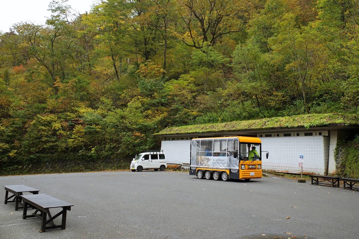 一ノ倉沢までの電気バス