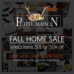 {Petite Maison} Fall & Gatcha Decor Sale - 50L