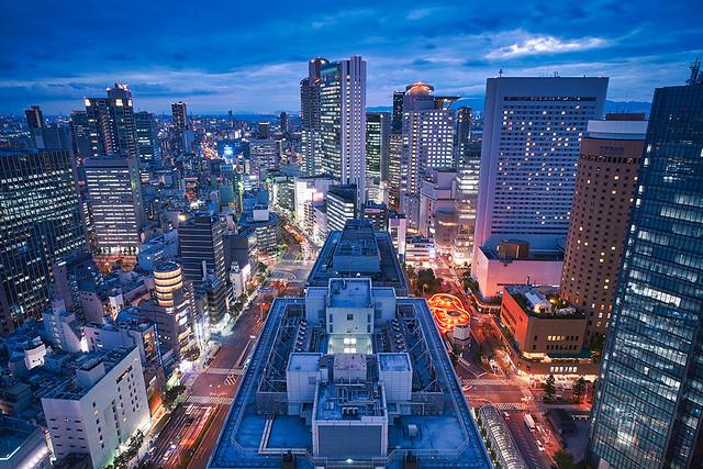 大阪梅田の夜景