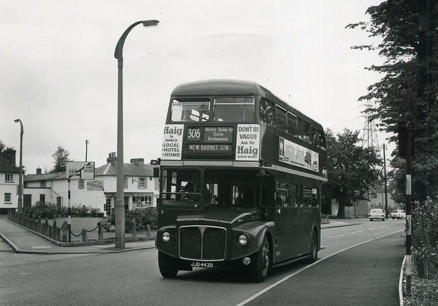 c1968 - London Transport RML2443, route 306 to New Barnet Station.