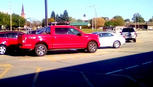 Supermarket parking lot - HTT Menominee Michigan