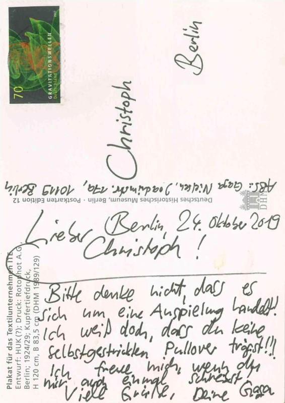 19-10-24 Postkarte BLN-BLN (6x)
