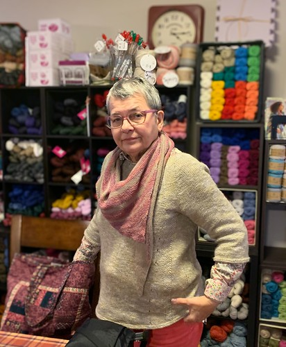 Connie (knitnut246) in her Sunshine Coast by Heidi Kirrmaier