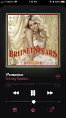 Listened to Britney Spears - Womanizer (10/25/19) #britneyspears #womanizer #circus #deluxeedition #pop #applemusic #darkmode