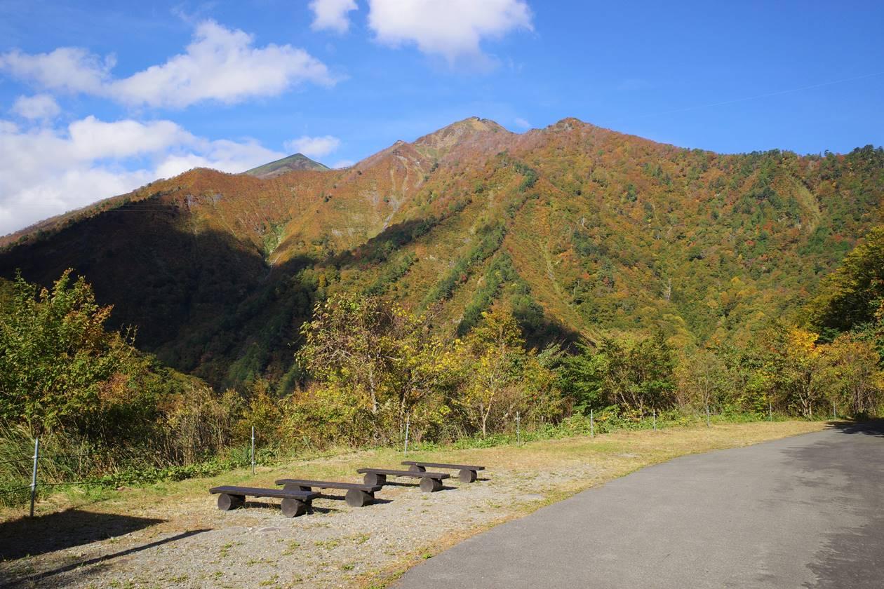 白毛門方面の紅葉風景