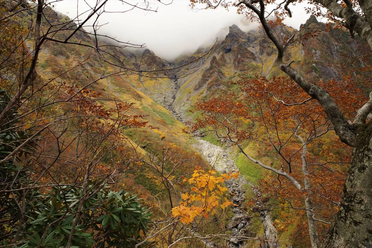 谷川岳登山 マチガ沢の紅葉