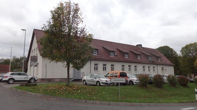 um 1940 Kirchheim Autobahnmeisterei Strecke 81 am Kirchheimer Dreieck K32/B454 Schwimmbadstraße/Hauptstraße in 36275