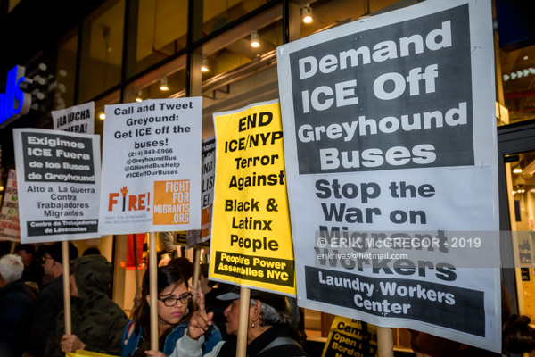 Activists tell Greyhound: ICE off the buses