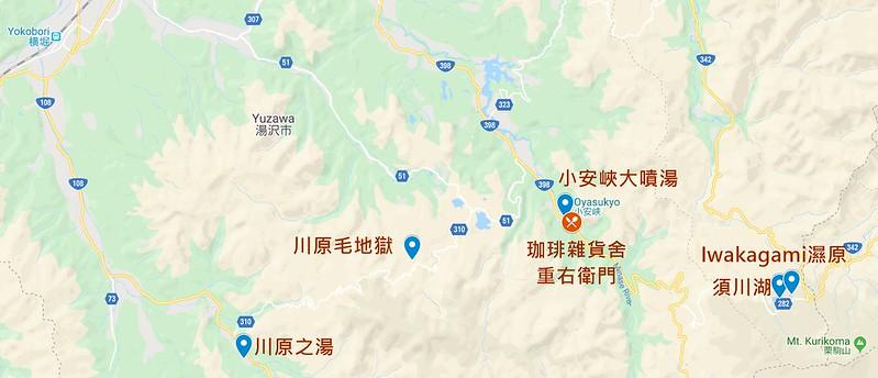 湯澤市map
