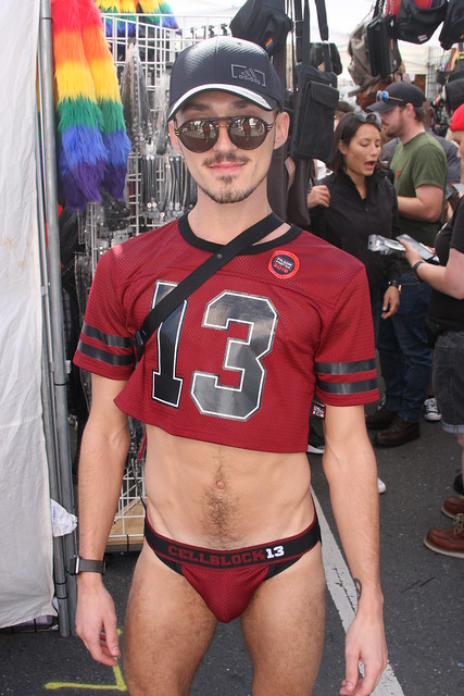 HELLA HOT YOUNG JOCK ! ~ FOLSOM STREET FAIR 2019 ! ~ ( safe photo )