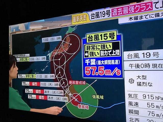 Typhoon NO.19-2 @Japan,Oct2019