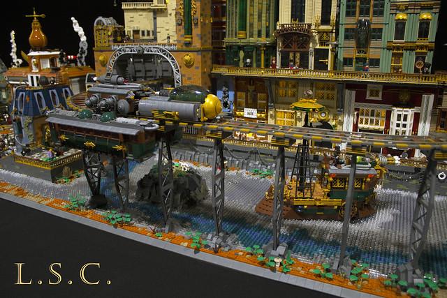 Lego Steam Company - Steampunk layout 2019