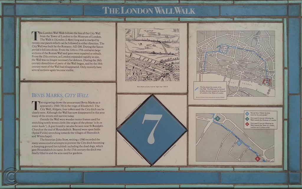 London Wall Walk plaque No. 7