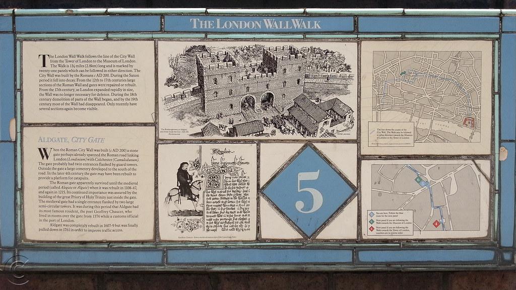 London Wall Walk plaque No. 5
