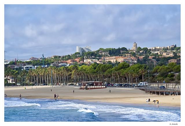 playa Arrabasada y Ciudad de Tarragona