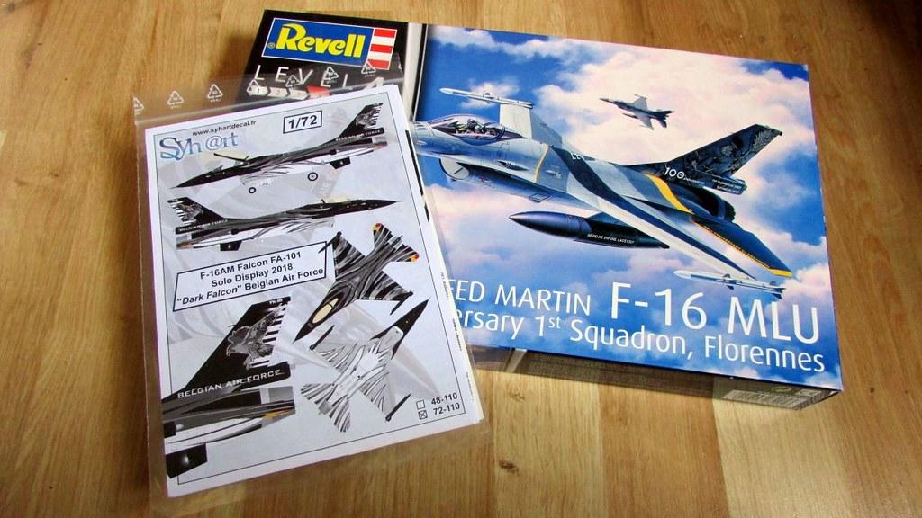 "Syhart Decals 1//72 F-16AM FALCON SOLO DISPLAY 2018 /""DARK FALCON/"" Belgian AF"