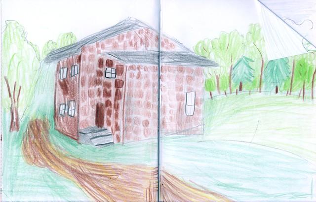 VCSE - Az Ágasvári Turistaház - Csizmadia Míra (10 éves) rajza