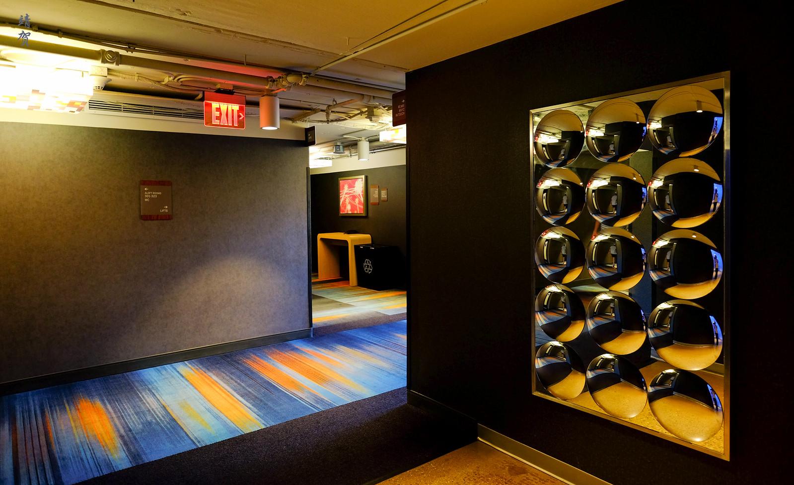 Elevator lobby space