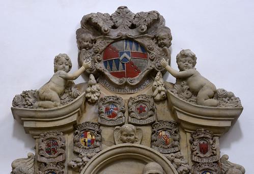 Vreden, Westfalen, Stiftskirche, St. Felizitas, monument to Claudia Seraphica von Wolkenstein-Rodeneck †1688, detail