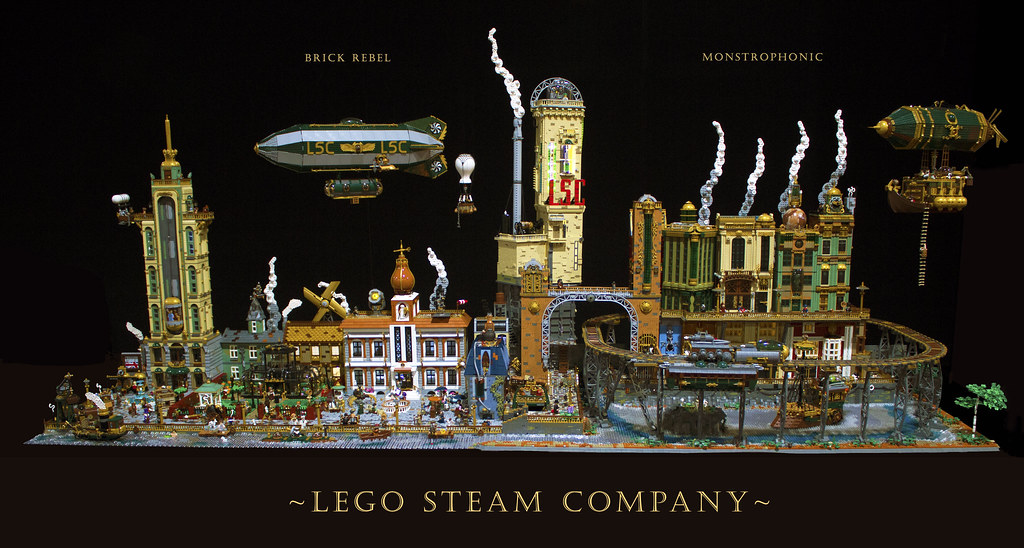 Lego Steam Company - Steampunk layout 2019