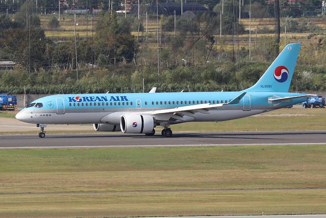 HL8091  -  Airbus A220-300  -  Korean Air  -  GMP/RKSS 6/10/19