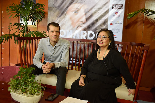 Alessandro Milani (President of Philippine-Italian Association, PIA) with Ms. Irene Rada (CCP Public Relation)