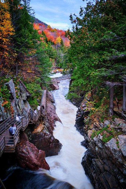 Path along High Falls Gorge