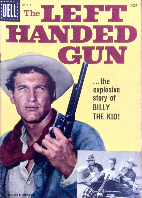 The Left Handed Gun - Comic Book Adaptation of 1958 Film starring Paul Newman. Dell 4-Color Series No.913. 1958