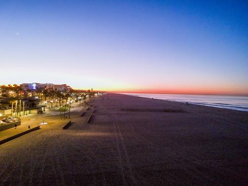 surfcity dji drone pacificocean spark sunrise