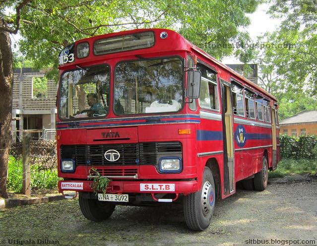 Ruby bodied TATA LP 1510/52 bus from SLTB Batticaloa depot