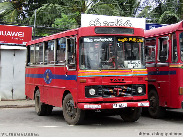 Ruby bodied TATA LP 909/36 bus from SLTB Alawwa depot