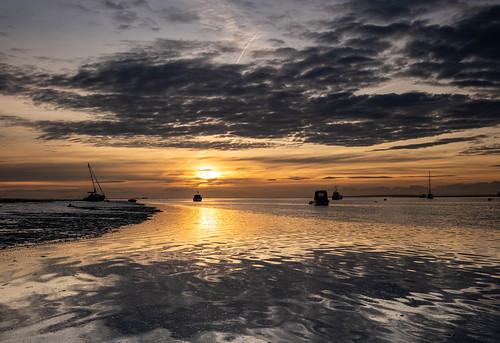 essex leighonsea twotreeisland boats sunrise clouds